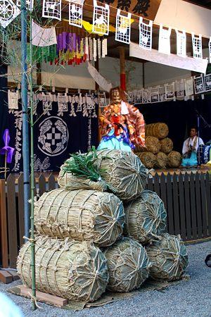 天王と米俵