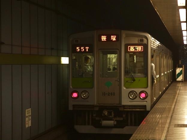 都営新宿線菊川駅1番線 都営10-260F各停笹塚行き前方確認