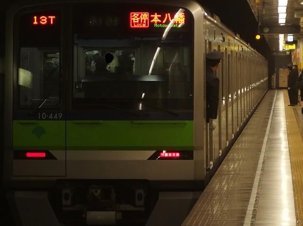 都営新宿線菊川駅2番線 都営10-440F各停本八幡行き前方確認