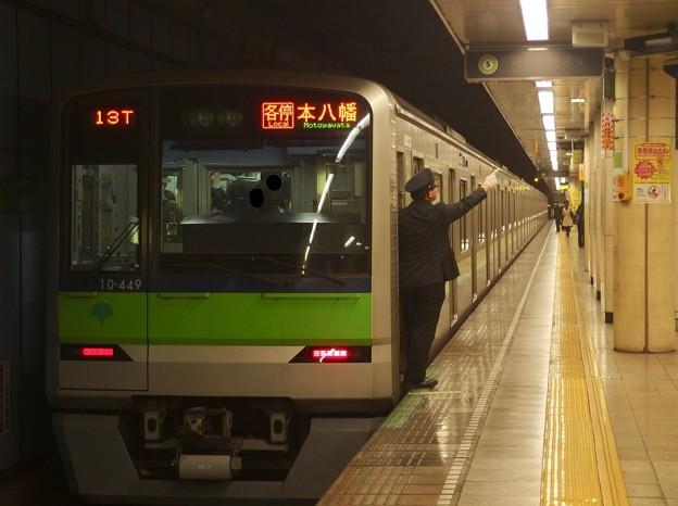 都営新宿線菊川駅2番線 都営10-440F各停本八幡行き側面よし