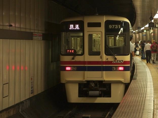 都営新宿線新宿駅4番線 京王9031回送前方確認