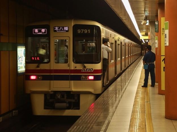 都営新宿線西大島駅2番線 京王9041各停本八幡行き前方確認