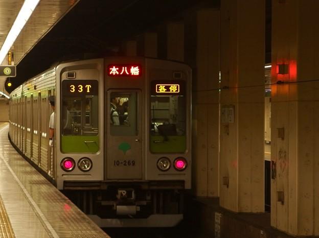都営新宿線住吉駅2番線 都営10-260F各停本八幡行き前方確認(3)