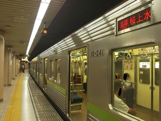 都営新宿線小川町駅3番線 都営10-240F各停桜上水行きベル扱い