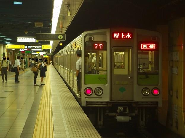 都営新宿線神保町駅1番線 都営10-240F各停桜上水行き前方確認(1)