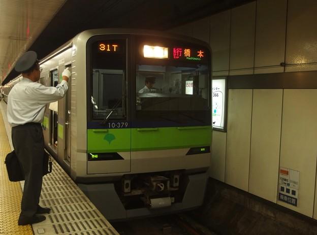 京王新線新宿駅4番線 都営10-370F急行橋本行き表示確認