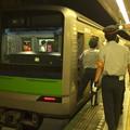 都営新宿線篠崎駅2番線 都営10-380F急行本八幡行き側面よし