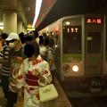 Photos: 都営新宿線篠崎駅2番線 都営10-250F急行本八幡行きラッシュ