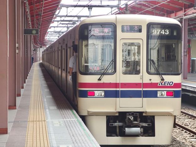 都営新宿線船堀駅1番線 京王9043各停橋本行き前方確認