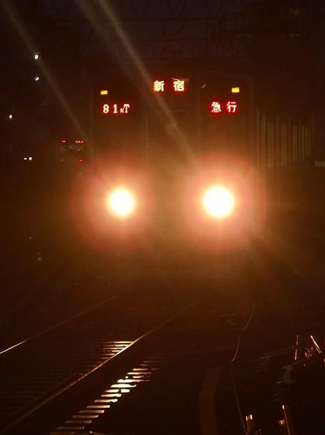 京王新線笹塚駅3番線 都営10-270F急行新線新宿行き進入(2)