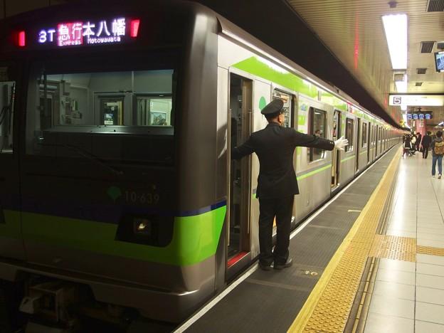都営新宿線新宿駅5番線 都営10-630F急行本八幡行き客終合図