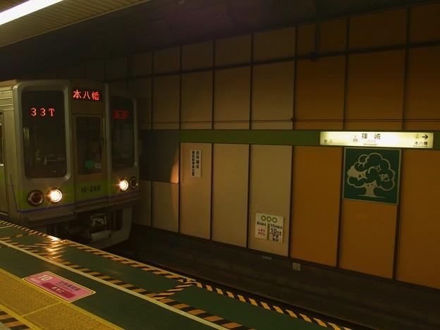 都営新宿線篠崎駅2番線 都営10-280F各停本八幡行き