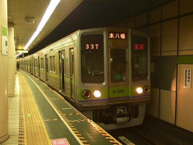 都営新宿線篠崎駅2番線 都営10-280F各停本八幡行き(2)