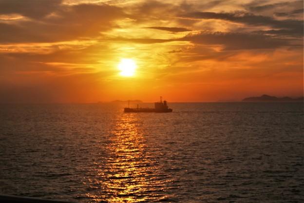 瀬戸内の夕陽