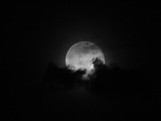 Photos: 月に雲