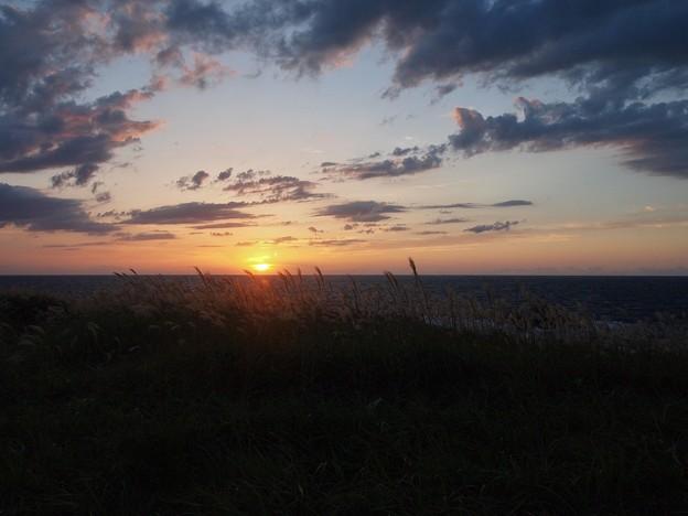 春日崎の夕日