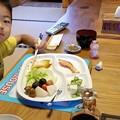 里山にて朝食