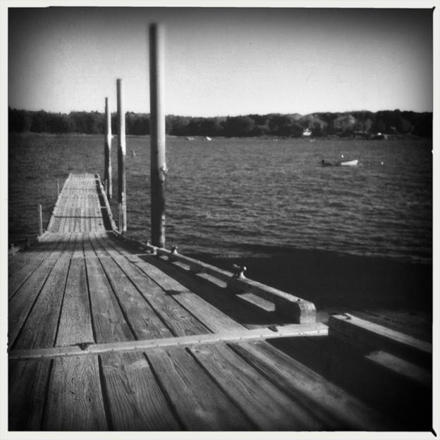 Boat Ramp in B&W 10-18-17