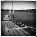 写真: Boat Ramp in B&W 10-18-17