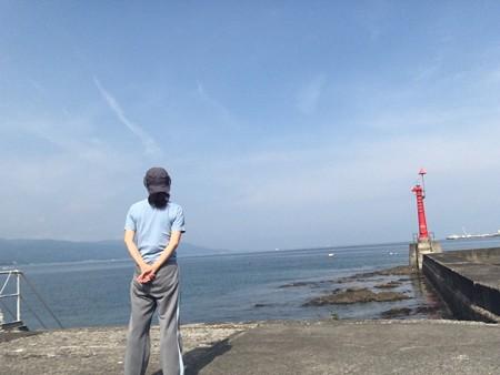 静浦の海を見ながら、インストラクターモードに切り替えちぅ