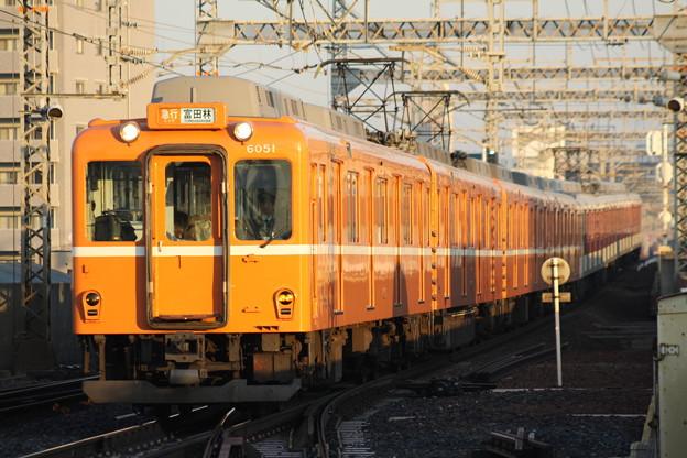 近鉄6020系(ラビットカー塗装) 急行富田林行き