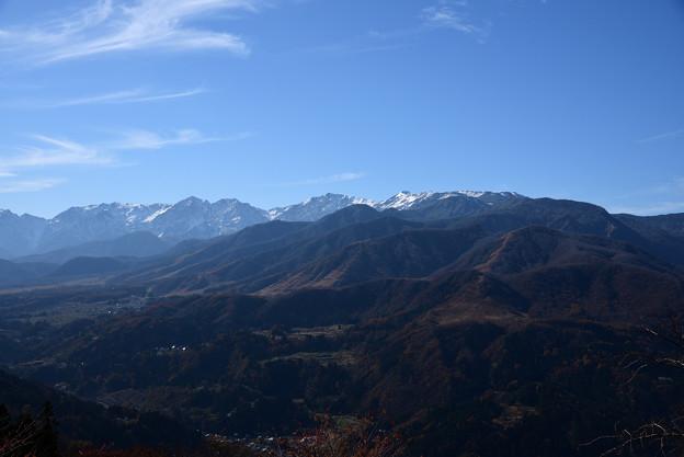 秋の小谷村と北アルプス