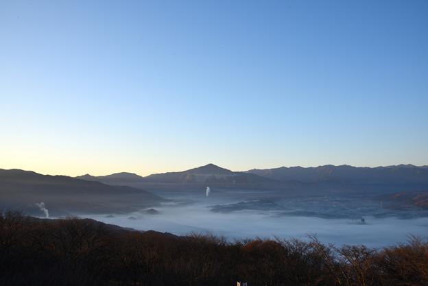写真: 美の山公園からの雲海