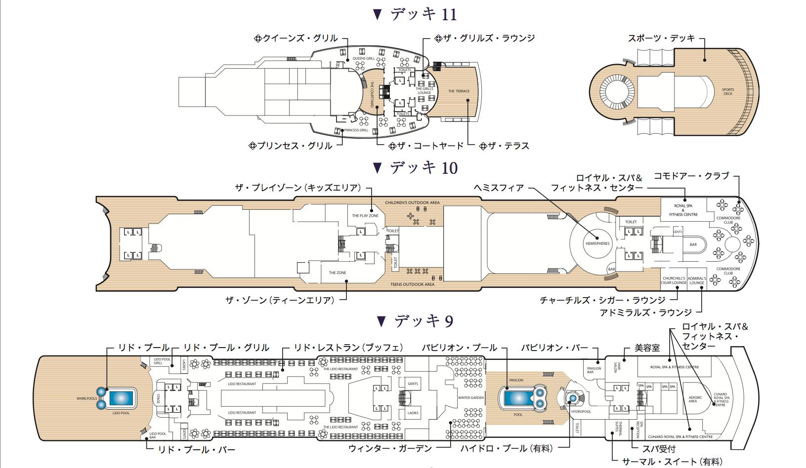 デッキ9〜11