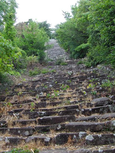 頂上直下の階段