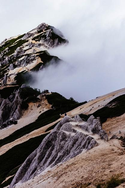 燕岳への道