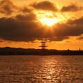 写真: IMG_6698 今日の夕陽