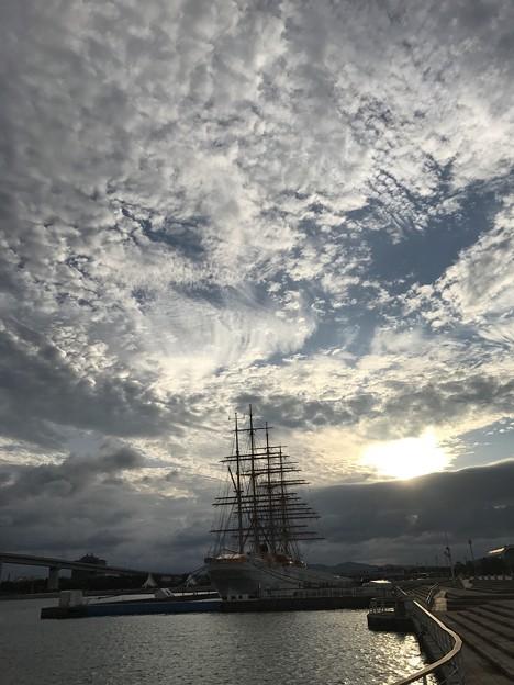 海王丸パークの夕景