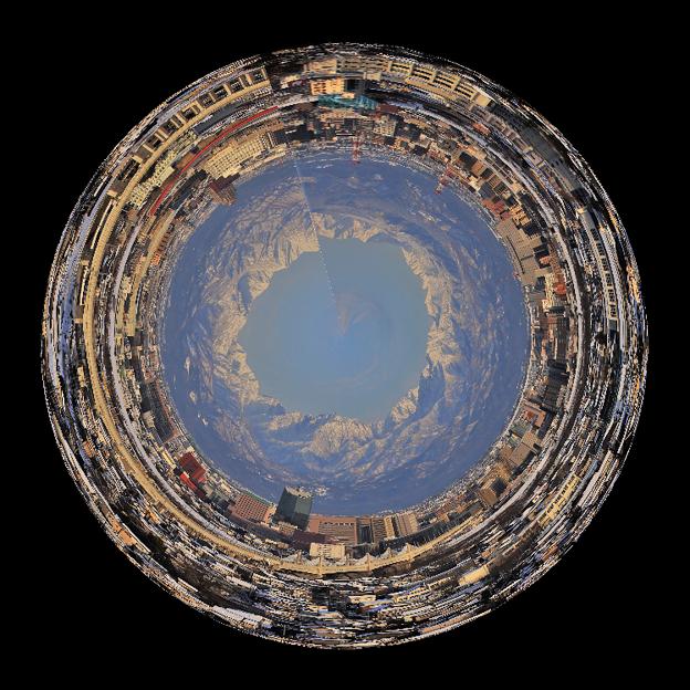 呉羽山展望台から望む立山連峰 IMG_6479