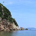 写真: 断崖あるいは青い空