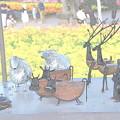 Photos: 花畑のオブジェ