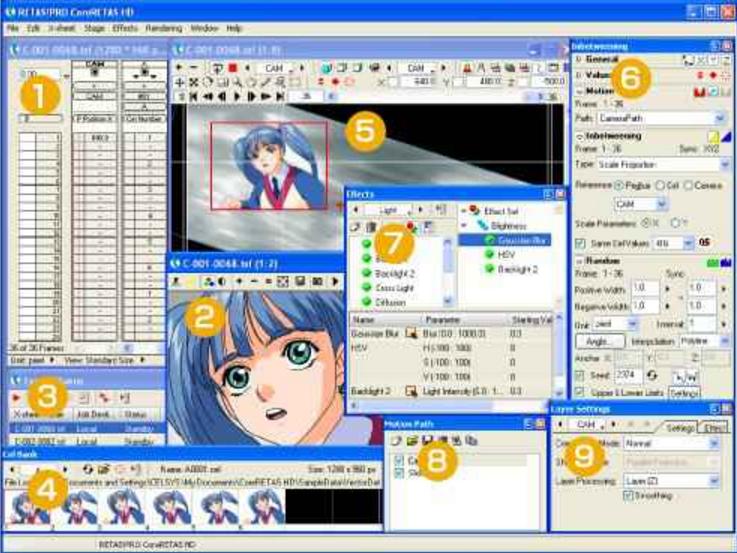 二维动画制作软件(RETAS)6.5.8中文版