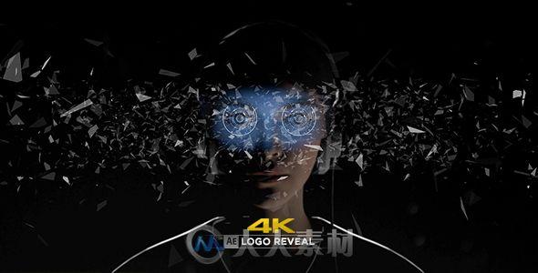 创意科技VR眼镜展示虚拟现实标志LOGO演绎AE模板Videohive Virtual Reality 4K Logo Reveal