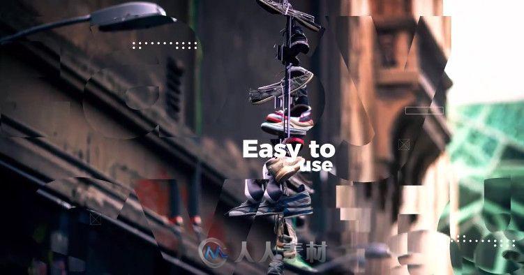 优雅时尚字母线条视差幻灯片相册动画AE模板 Slideshow Clean Modern