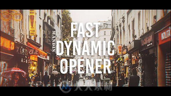 动感视差照片拼接展示幻灯片相册动画AE模板Videohive Fast Dynamic Opener