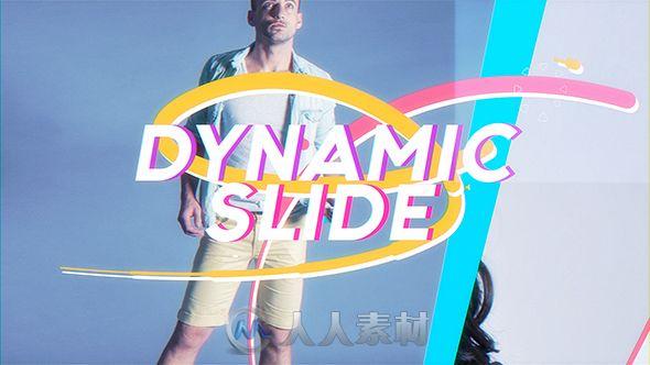 时尚动态照片切换特效展示幻灯片相册动画AE模板Videohive Dynamic Slideshow