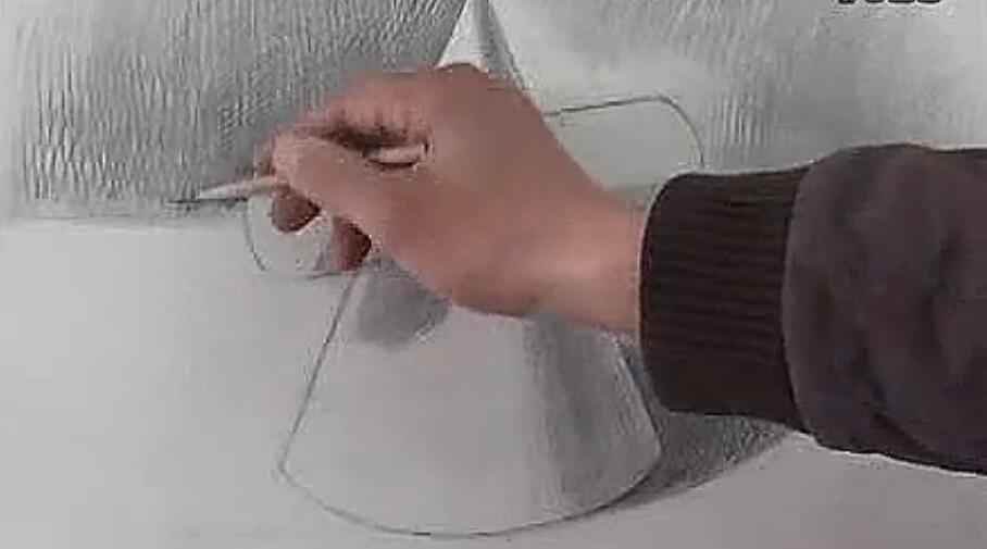 圆柱斜面体圆柱圆锥穿插体正方体的画法素描几何体组合起稿下载地址