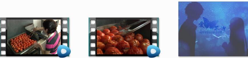 烤柿子视频素材