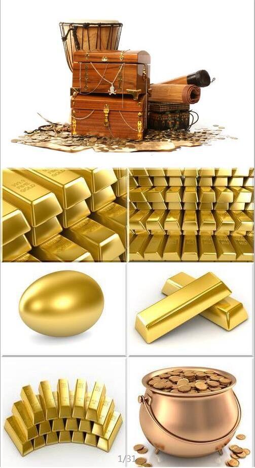 黄金物品图片素材