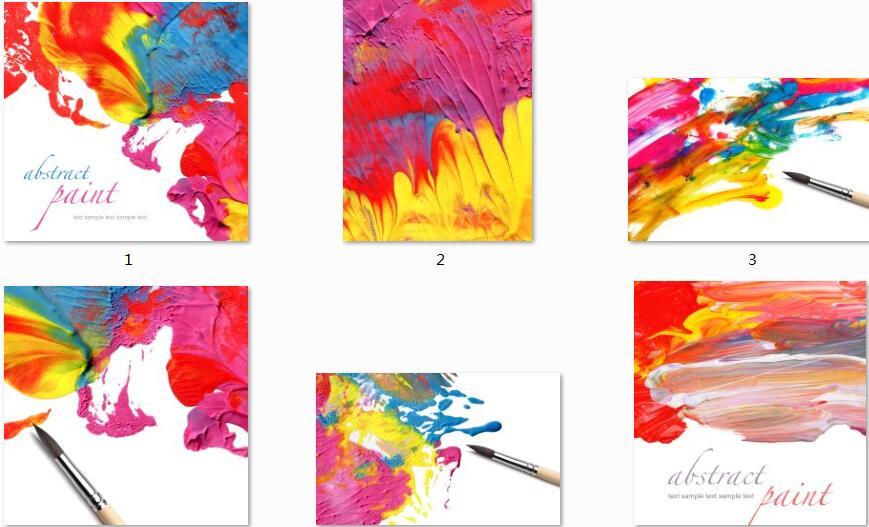 五彩颜料高清图片素材
