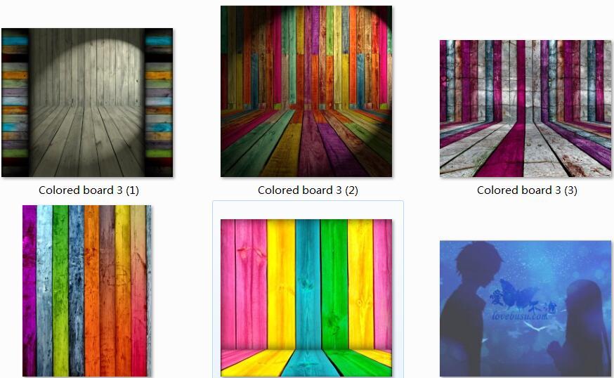五款彩色木地板高清图片素材
