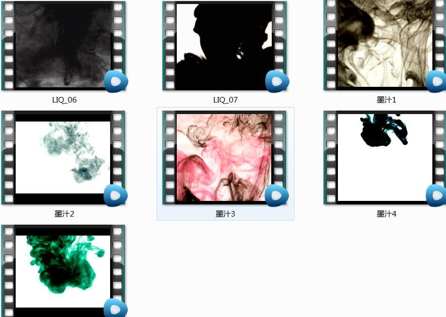 宣纸书法字体图片素材+墨汁视频素材