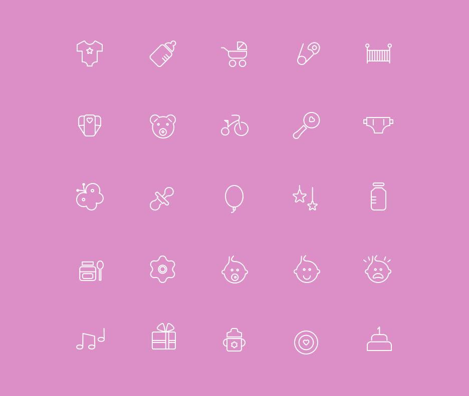 22组线框icon矢量素材