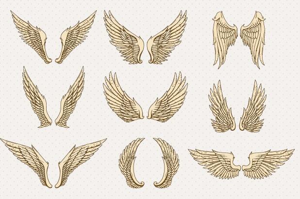 卡通天使翅膀图片矢量素材