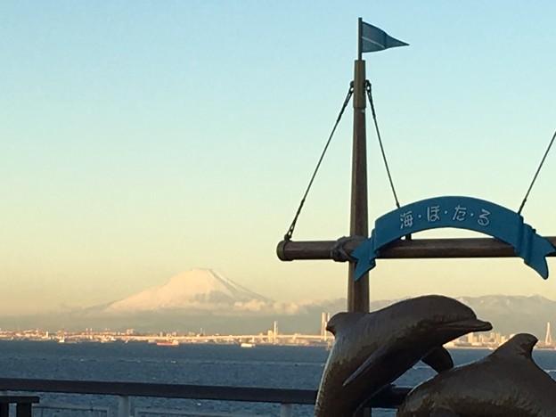 富士山 海ほたるPAより