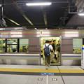 Photos: s5172_高槻駅1番線ホーム保護バー_上昇状態
